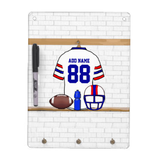 Personalized American Football Grid Iron WRB Dry-Erase Whiteboards