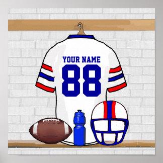 Personalized American Football Grid Iron WRB Print