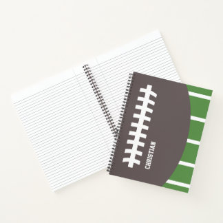 Personalized American Football / Rugby Sports Notebook