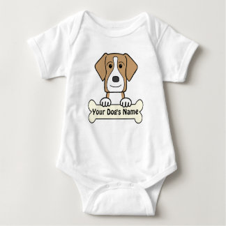 Personalized American Foxhound Baby Bodysuit