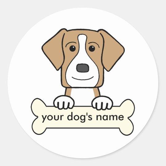 Personalized American Foxhound Classic Round Sticker