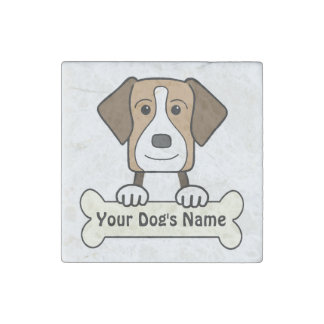 Personalized American Foxhound Stone Magnet