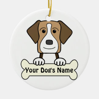 Personalized American Foxhound Christmas Tree Ornaments