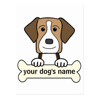 Personalized American Foxhound Postcard