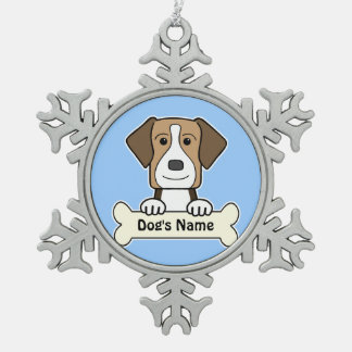 Personalized American Foxhound Snowflake Pewter Christmas Ornament