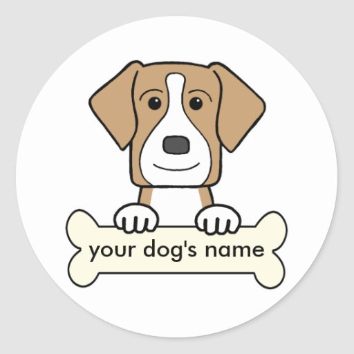 Personalized American Foxhound Stickers