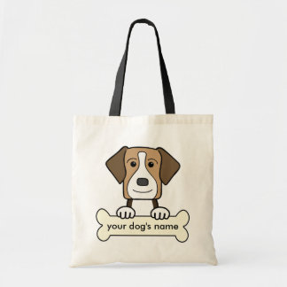 Personalized American Foxhound Tote Bag