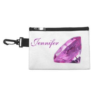 Personalized Amethyst 01, Birthstone Accessory Bag