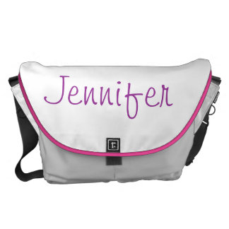 Personalized Amethyst 01, February, Birthstone Courier Bags