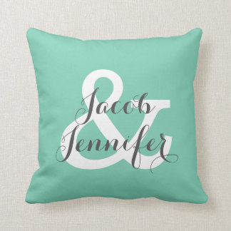 Personalized Ampersand Pillow-Teal Pillow