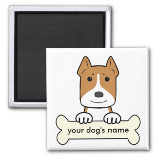 Personalized Amstaff 2 Inch Square Magnet