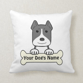 Personalized Amstaff Throw Pillow