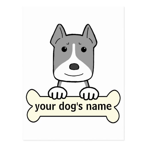 Personalized Amstaff Postcard