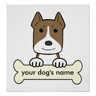 Personalized Amstaff Poster
