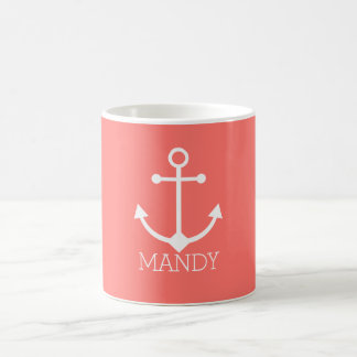 Personalized anchor coffee mug