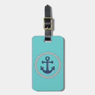 Personalized Anchor Luggage Tag