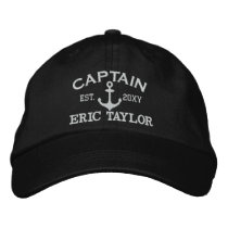 Personalized Anchor Nautical Embroidered Baseball Hat