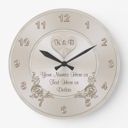 Personalised Clock Wedding Gift India : Personalized and Unique Bridal Shower Gifts CLOCK Zazzle