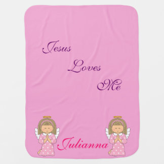 Personalized Angel Baby Blanket