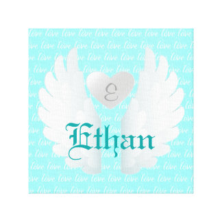 Personalized Angel Wings Art Canvas Print