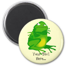 Personalized Angry Green Frog Magnet