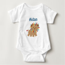 Personalized Animal Parade Lion Turtle baby Shirt