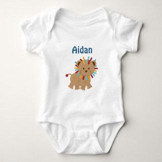 Personalized Animal Parade Lion Turtle baby Shirt