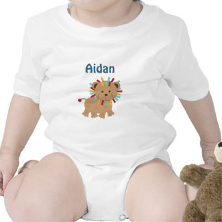 Personalized Animal Parade Lion Turtle baby Shirt Creeper