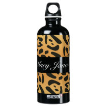 Personalized Animal Print Liberty Water Bottle