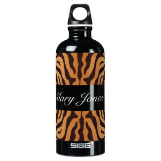 Personalized Animal Print Liberty Water Bottle