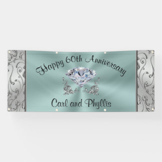 Personalized Anniversary Banner, Your Text, Colors Banner