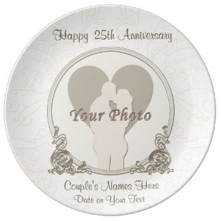 Personalized Anniversary Gifts for Parents Plate
