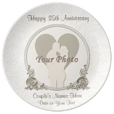personalized anniversary plates any year and photo zazzle