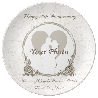 Personalized Anniversary Plates ANY YEAR and PHOTO