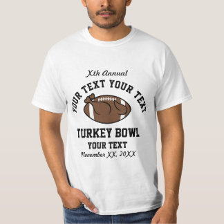Personalized Annual Turkey Bowl Funny T-Shirt