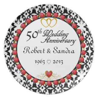 Personalized ANY # Anniversary Display Plate