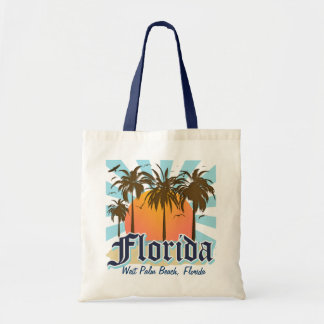 Personalized Any City or Beach Florida Canvas Bags