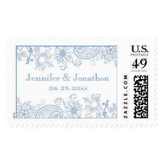 Personalized Any Color Flowers & Foliage Wedding Postage