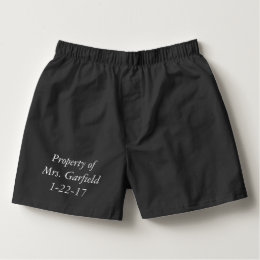 PERSONALIZED  any message wedding gift Boxers