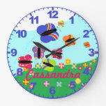 Personalized ANY NAME Butterfly Clock with Numbers