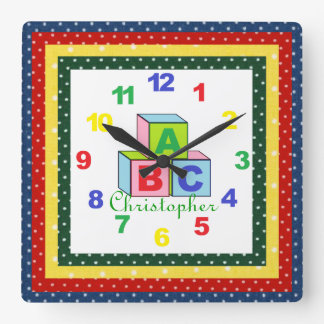 Personalized (ANY NAME) Child's Clock w/Numbers