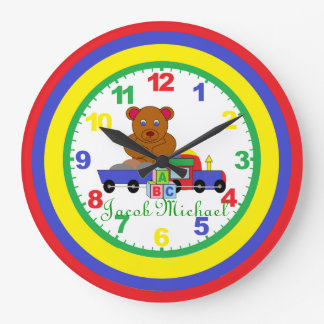 Personalized (ANY NAME) Child's Clock with numbers