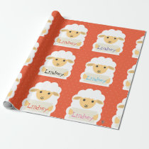 Personalized Any Name Little Lamb Wrapping Paper