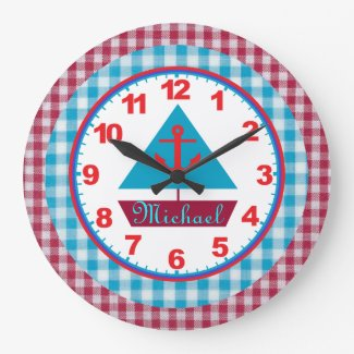 Personalized Sailboat Clock
