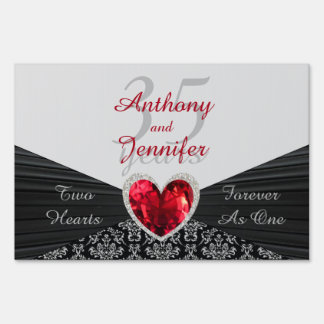Personalized ANY # Wedding Anniversary Yard Sign