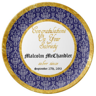 Personalized ANY YEAR  Sobriety Celebration Plate Porcelain Plate