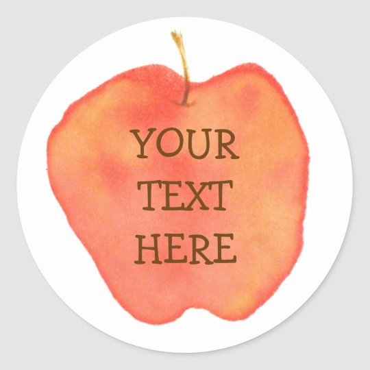 Personalized Apple Classic Round Sticker