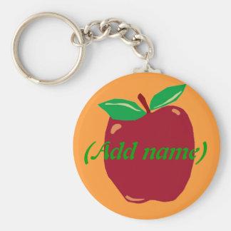 Personalized Apple Keychain