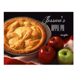 Personalized Apple Pie or Dessert Recipe Postcard