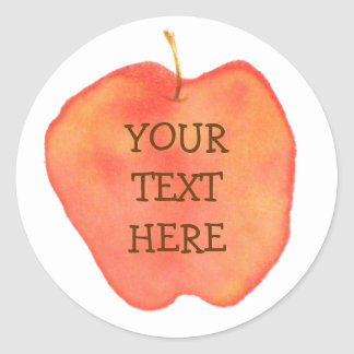 Personalized Apple Round Stickers